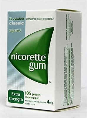 Nicorette Nicotine Gum 4Mg Classic Original 630 Pieces 6 Boxes by Johnson & Johnson Pacific