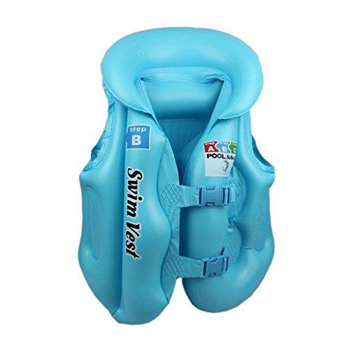 Kinder Baby Schwimmer Schwimmhilfe Schwimmweste Schwimmtrainer Schwimmanzug - Blau, L