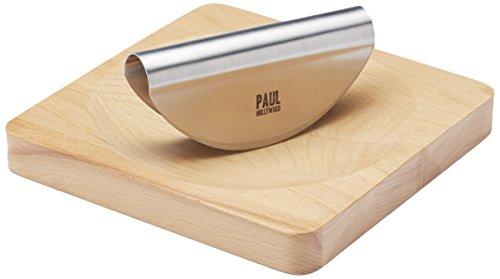 Paul Hollywood Wiegemesser-Set aus Buchenholz, Holz, Beige/Silber, 20.5 x 20.2 x 2.7 cm, 2 - Hollywood-chopper