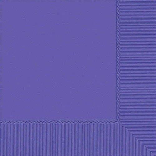 Amscan International Amscan 60215-106 Getränkservietten, 2-lagig, 12,7 x 12,7 cm, Violett, 50 Stück