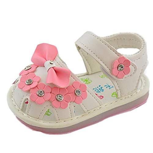 Switchali Kinder Bowknot Mädchen Blumen Schuhe Prinzessin Fashion Single Schuhe Weiß
