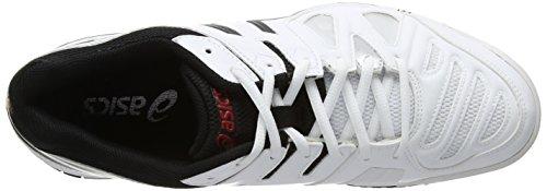 ASICS Gel-Game 5, Herren Tennisschuhe Weiß (White/Onyx/Chinese Red 199)