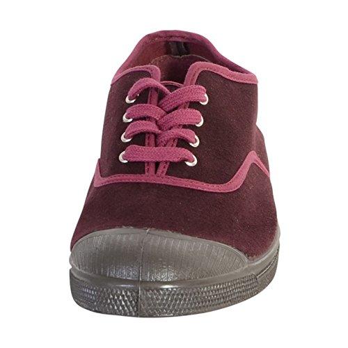 Tennis lacet Vintage Bensimon 421 Prune Rouge