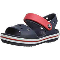 Crocs Crocband Sandal Kids, Sandalias Unisex Niños, Azul (Navy/Red), 23/24 EU