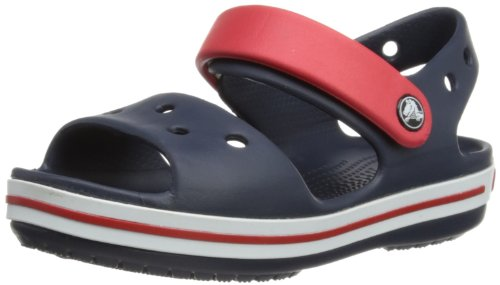 Crocs Crcbnd SdlK, Unisex-Kinder Clogs, Blau (Navy/Red 485), 25/26 EU