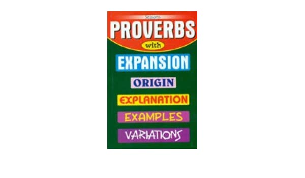 proverbs and their expansion
