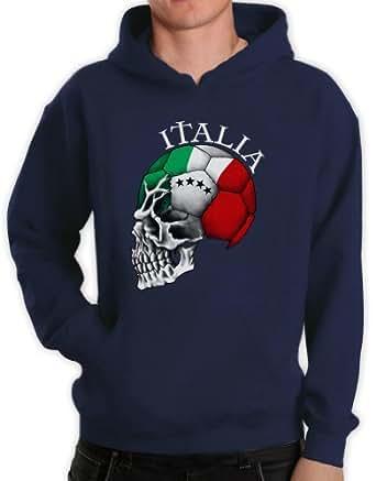 Italien Cooler Fanartikel Fußball EM 2016 Schädel Kapuzenpullover Hoodie
