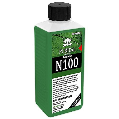 GREEN24 Rezeptur N100 NPK 11,6+4,2+6,3 Flüssig-Dünger, System Volldünger (Stickstoff Phosphat Kalium) mit Spurennährstoffen Eisen Kupfer Mangan Molybdän Zink