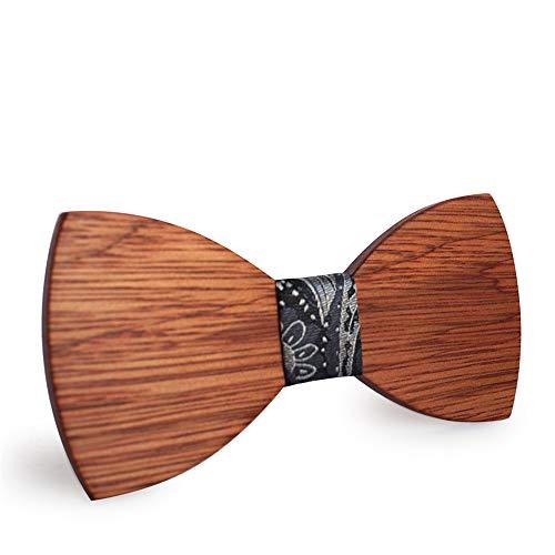 YAOSHI-Bow tie/tie Krawatten und Fliegen für Minimalismus Persönlichkeit Business Männer Fliege Holz Krawatte Knoten Samt Fliegen 16 * 8 * 2 cm Krawatten und Fliegen für