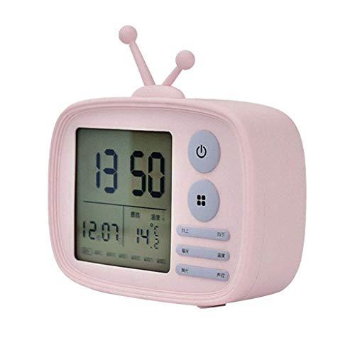 Dtuta Wecker Funk Digital Laut Extrem Tischuhren Retro Stimme Schlummert Kalender, Temperatur