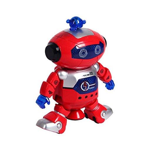 Preisvergleich Produktbild Tonsee Elektronische zu Fuß tanzenden Smart Space Robot Astronaut Kinder Licht Musik Spielzeug