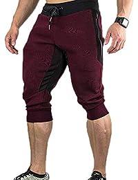 8f183d8238 Pantalones Deportivos de Verano para Hombre Pantalones Cortos 3 4 Jogging  Gym Pantalones Casuales de