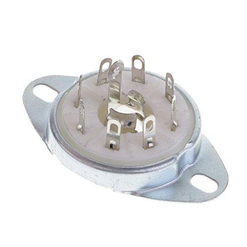 Homyl Keramik Gold PCB Sockel für Gitarrenverstärker Radio Funkmeldung, Ideal für die Reparatur von Vintage Verstärkern, Ham-Radio, HiFi und Mehr
