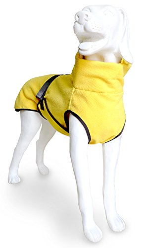 EQDOG 382-772 Doggy Dry Hundebademantel, XXS, gelb - 2