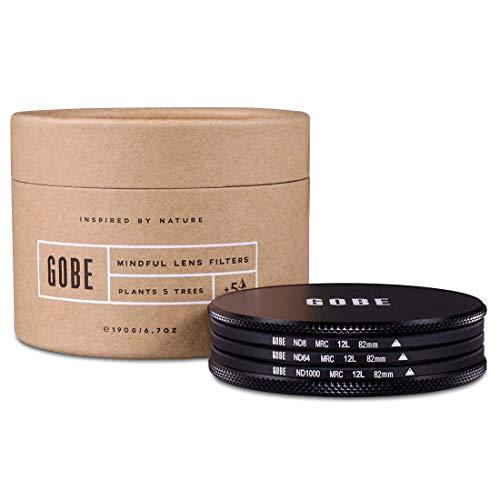 Gobe ND8, ND64, ND1000 Filter Kit 82mm MRC 12-lagig
