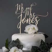 Personalised Names Wedding Engagement Anniversary Cake Topper | Any Name | Choice of Colours