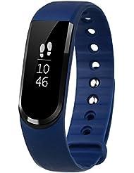 Montre Connectée, Lintelek Fitness Tracker d'Activité Etanche Montre Sport Bracelet Connecté Smartwatch Podometre pour iPhone Samsung Android iOS