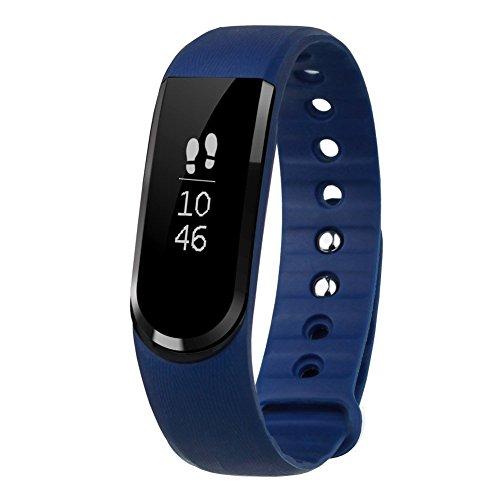 LETSCOM Tracker d'activité Smart Bracelet Connecté Sport Fitness Tracker Podomètre Calories Sommeil Bracelet Avec Écran Tactile Fitness Montre Connectée IP67 Etanche Bracelet Intelligent Notifications - Compatible avec Smartphone iPhone et Android