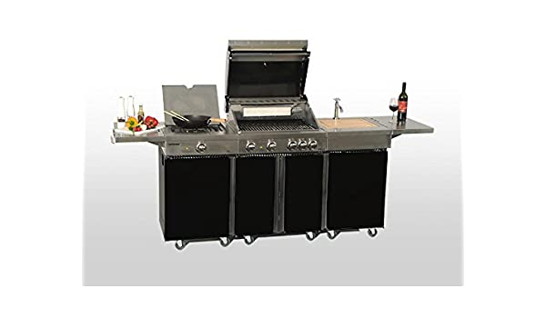 Outdoorküche Gasgrill Reinigen : Coobinox outdoorküche royal design gasgrill bbq spültisch und