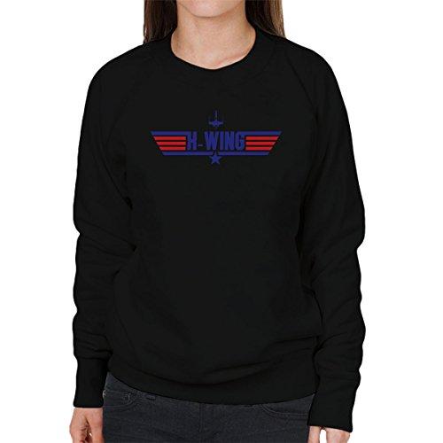 Star Wars Rogue One X Wing Top Gun Logo Women's Sweatshirt Black