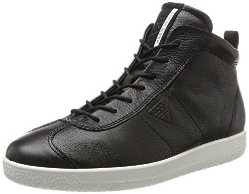 Ecco Herren Soft 1 Men's Hohe Sneaker, Schwarz -
