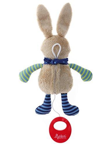 sigikid, Mädchen und Jungen, Spieluhr, Stofftier Hase, Blau/Grün, 40356 - 4