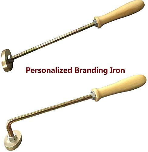 Logo personalizzato Testo Branding Iron Handmade High Heat Stamp. Funziona alla grande su bistecche, cuoio, legno. 2.8'(Curved)