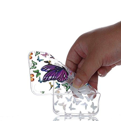 Slynmax Crystal Clear TPU Cover per iPhone X Custodia Silicone Caso Molle di Morbida Sottile Gel Transparent Bumper Case Protettiva Caso Chiaro Copertura Slim Thin Skin Shell Protezione per iPhone X S Modello #19
