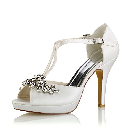 Emily Bridal Zapatos Boda Zapatos Novia Marfil Peep
