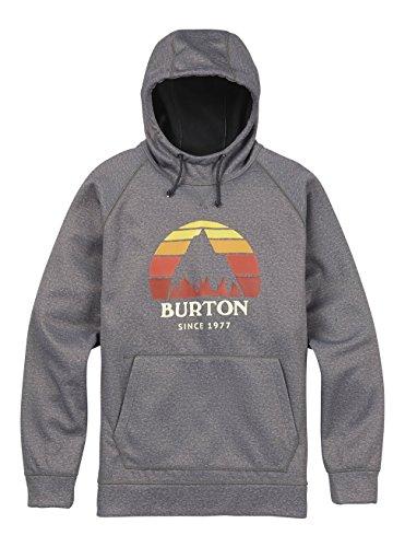 Xx Bonded Fleece (Burton Herren Crown Bonded Pullover Hoodie, Monument Heather, XXL)