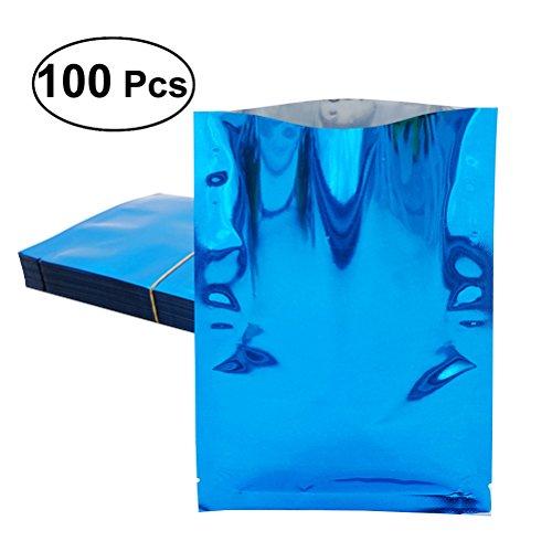 bestonzon 100Aluminium Folie Mylar Tasche Vakuumiergerät Nahrungsmittel Paket Aufbewahrung Beutel–6x 9cm (blau) (Lebensmittel-lagerung-container Bulk)