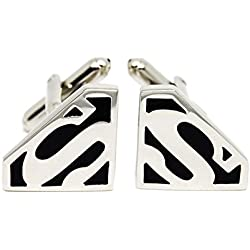 Ss Super Man Black Metal Cuffinks for Men