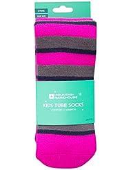 Mountain Warehouse Calcetines de Ski para niños Pack-de-2 Rosa Talla única