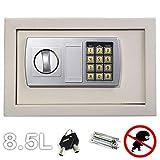8,5L Elektronische Digitale Geldkassette Sicherheitssafe für Home Office,...