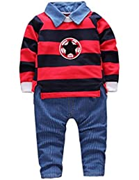 Ropa Bebé, Amlaiworld Ropa de Bebé niño Ropa de Camisetas de rayas Tops + pantalón ropa conjunto 0-3 Años