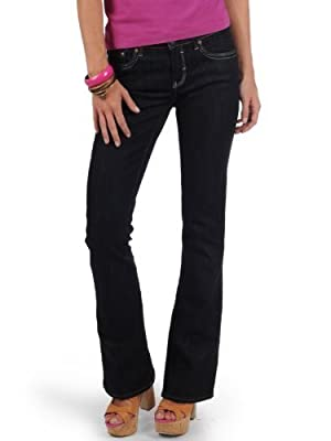 Mavi Women's Jeans Flare; 1013613128 Mid Rise, Boot Cut, Rynse Uptown - rinse uptown blue, 32W / 34L