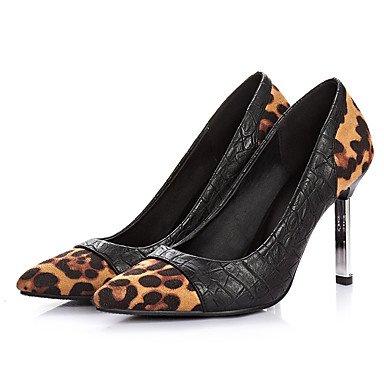 Moda Donna Sandali Sexy donna tacchi Primavera / Estate / Autunno / Inverno Comfort Casual in pelle Stiletto Heel Slip-on e dimensioni leopard