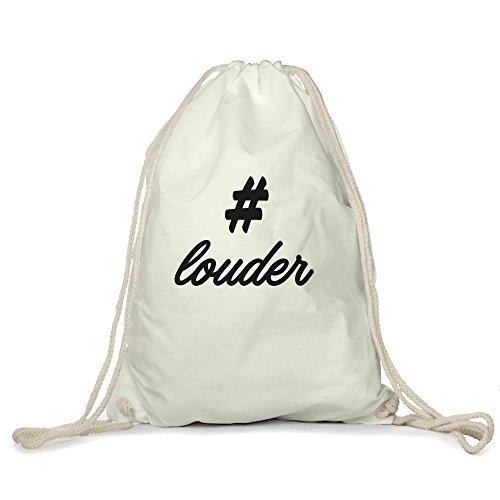 hashtag-louder-motiv-auf-gymbag-turnbeutel-sportbeutel-stylisches-modeaccessoire-tasche-unisex-rucks