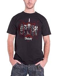Slipknot Mens T Shirt Black Paul Gray Pentagram Band Logo Official