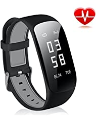 Fitness Tracker CRAZYLYNX IP67 Waterproof Heart Rate Monitor Tracker Smart Bracelet Activity Tracker Bluetooth Pedometer with Sleep Monitor Smart Watch for Android iOS Cell Phone