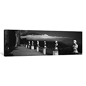 iCanvasART 1 Piece Marble Busts Along a Walkway, Ravello, Amalfi Coast, Salerno, Campania, Italy Canvas Print by Panoramic Images, 1.5 by 48 by 16-Inch