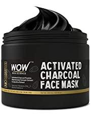 WOW Activated Charcoal Face Mask with PM 2.5 Anti-Pollution Shield No Parabens & Mineral Oil Wash Off Face Mask, 200mL