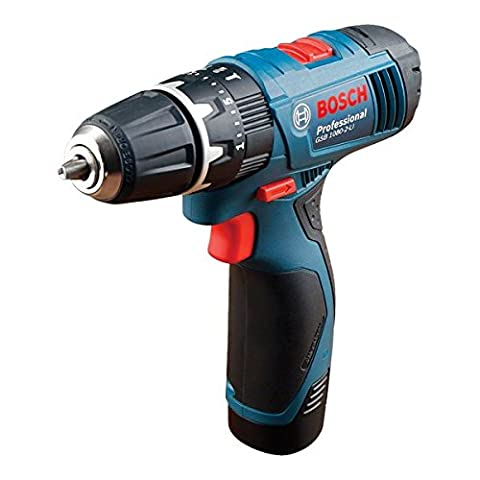 Bosch Professional GSB 1080-2-LI Cordless Combi Drill with two 10.8