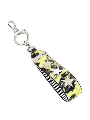 Guess Mix Match Wristlet Keychain Leopard