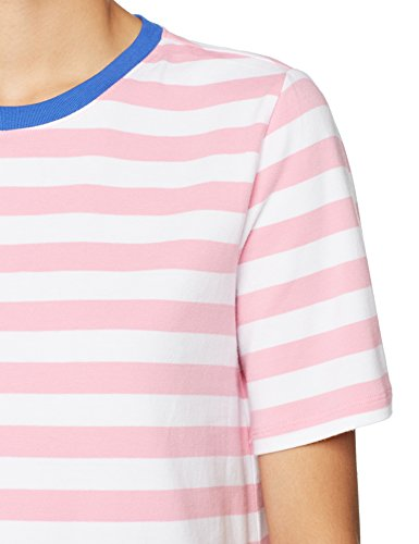 Only Damen T-Shirt Onllive Love Trendy Stripe SS Oneck NOOS Mehrfarbig (Prism Pink Stripes:Wide White)