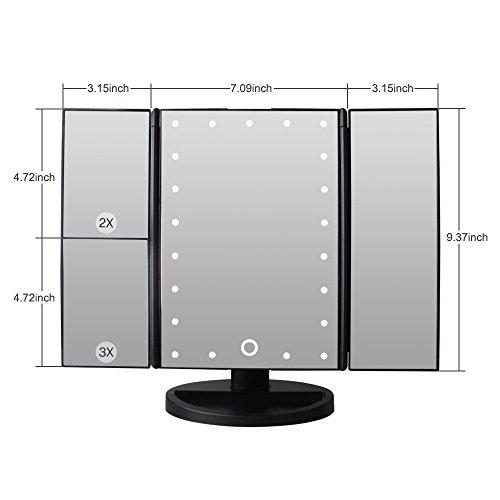 Specchio per trucco ingradimento 1x 2x 3x specchio - Specchio per trucco illuminato ...