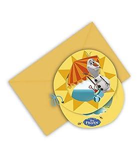 Procos S.A. - Cubertería para Fiestas Olaf, Frozen Disney (71998)