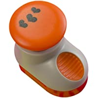 Tonic Studios - Perforatore con motivo a fiori, colore grigio/arancio - Punch Studio Carte