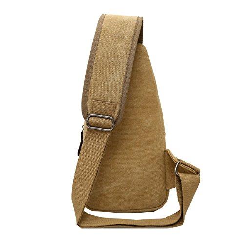 Yy.f New Canvas Bag Chest La Borsa Da Uomo Moda Messenger Bag Borsa Di Tela Esterna Tracolla Tracolla Borsa Multi-colore Nero