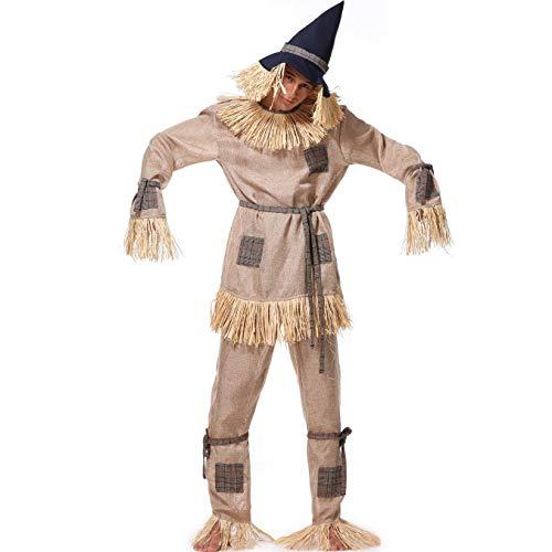 Halloween Herren Vogelscheuche Kostüm, Drama Bühnen Kostüm Karneval Für Erwachsene, Europäische Und Amerikanische Spiel Uniform, Masquerade Fairy Tales Set Wizard of - Für Erwachsenen Wizard Of Oz Kostüm
